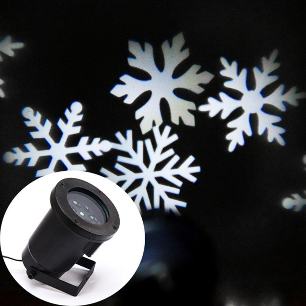 White Snowflake Laser Lamp for Christmas Festival  Garden House Decoration Free Shipping