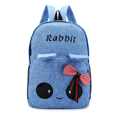 Guaranteed 100% Cute cartoon backpack canvas letter backpack rabbit backpack school with printing Cute big eyes<br><br>Aliexpress