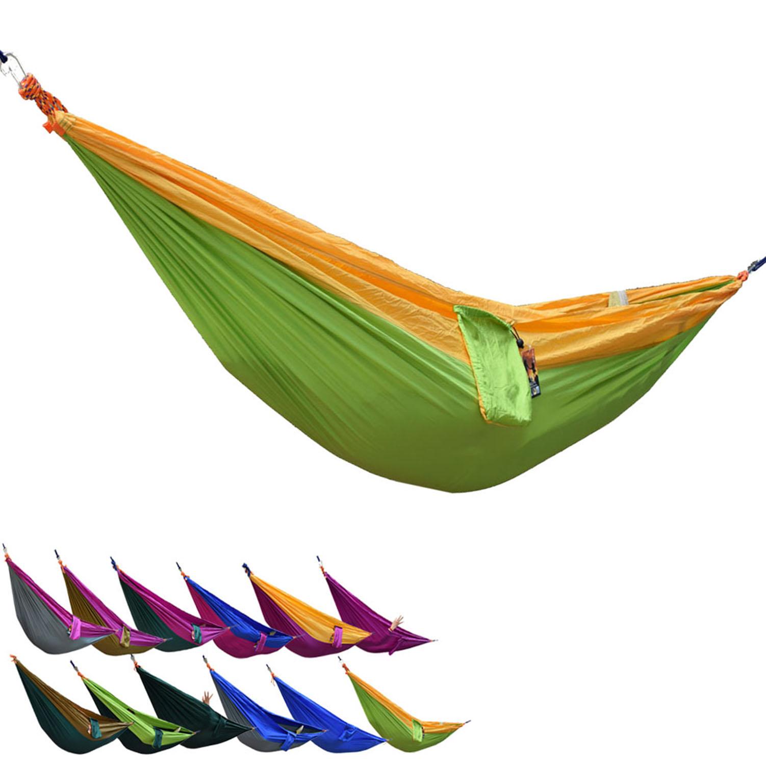 Portable Parachute Nylon Fabric Outdoor Travel Camping Hammock(China (Mainland))