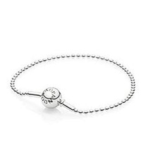 Hotsale Solid 925 Sterling Silver Essence Bracelets Wholesale Silver Clip Clasp Charms Bracelet For Essence Charms Small Holes(China (Mainland))