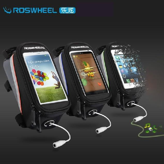 """ROSWHEEL 4.2"""" 4.8"""" 5.5"""" Bike Bicycle Cycle Cycling Frame Tube Panniers Waterproof Touchscreen Phone Case Reflective Bag,7 Colors(China (Mainland))"""