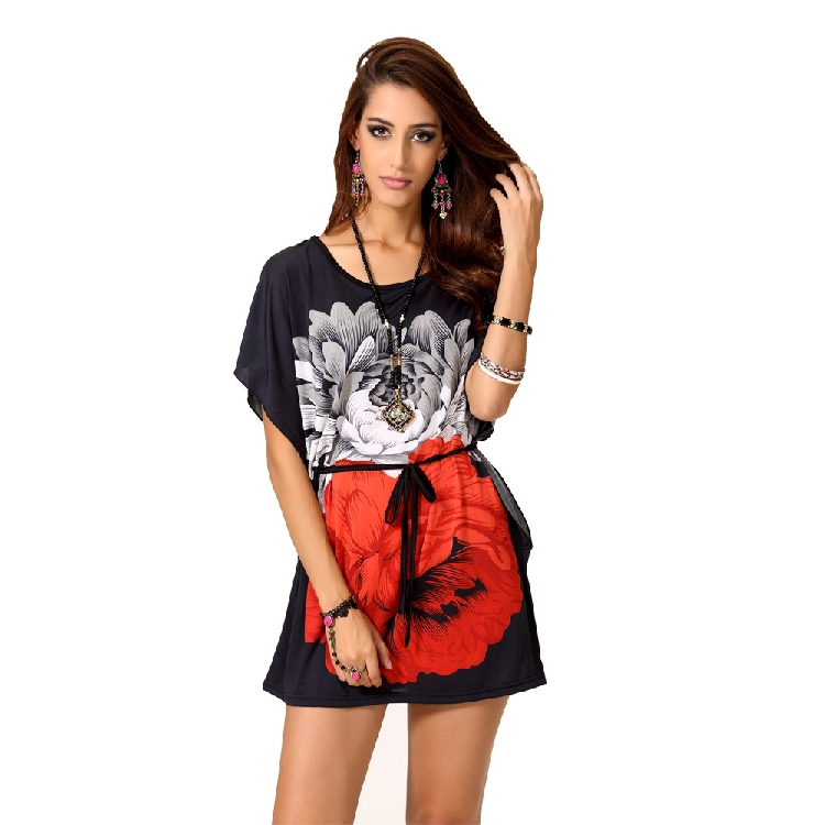 Wholesale women t shirts 2015 fashion ladies summer floral for Print t shirt cheap