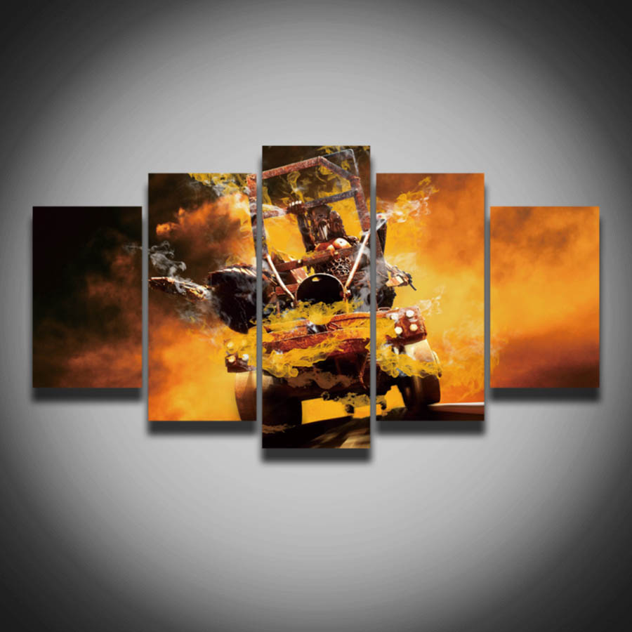 Popular cool car picture buy cheap cool car picture lots for Fallout 4 canvas painting