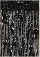 Zasłona sznurkowa Shiny Tassel brokat zasłona sznurkowa parawan do drzwi, okien zasłony wystrój salonu Valance jednolity kolor 100*200/290*290(China)