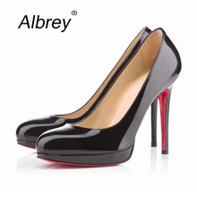 15 Colors Women Sexy Red Bottom High Heels 11 cm Heels Women Platform Wedding Shoes Point Toe Patent Leather Ladies Pumps(China (Mainland))