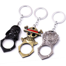 Star war Darth Vador Storm Trooper beer opener keychain 2016 New Iiron man One Piece Luffy figure wine opener car key ring toy(China (Mainland))