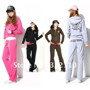 Autumn Women Fashion Tracksuit Sport set suit More colors Cartoon Hoodie 2pcs set Casual Costume