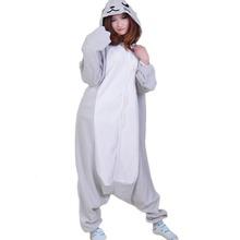 Onesies For Adults Women Sleep Pajamas Grey Seal Animal Pajamas One Piece Pyjama Femme Home Clothing Pigiami Mujer