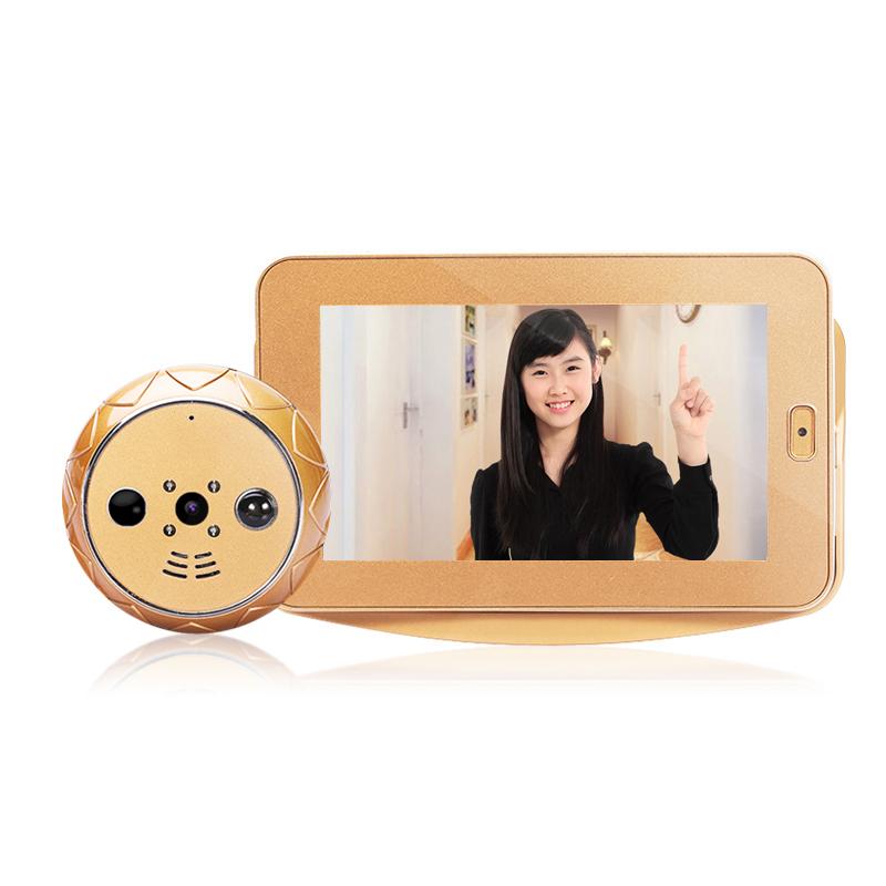 Фотография Auto Voice Reminder Smart Door Peephole Camera Wireless Infrared Night Version Wireless door camera