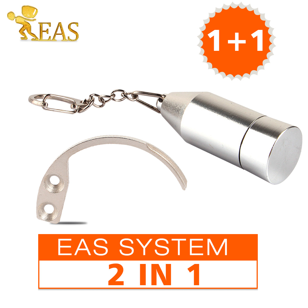 2 in 1 Package!! Mini Bullet Detacher Super Magnetic Force Hard Tag Remover EAS Tag Detacher 4500GS +1Pc Hook EAS System(China (Mainland))