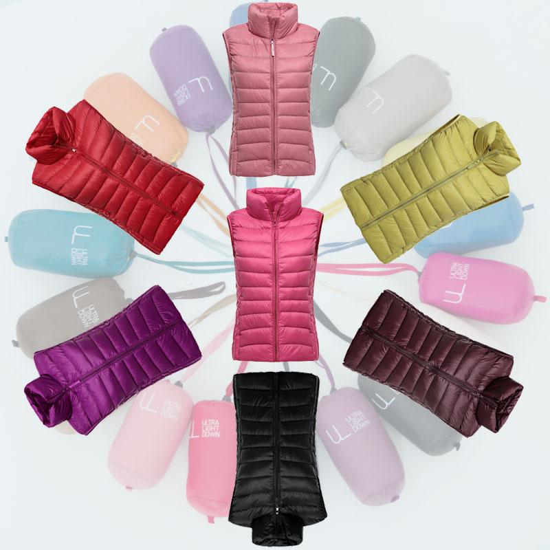 Ladies Down Vest 2016 Women Spring Vest Coat Luxury Winter Jackets Vest Stand Collar Solid Slim Warm Female Vests Black Red XXXLОдежда и ак�е��уары<br><br><br>Aliexpress