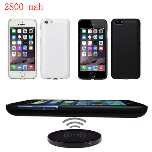 New 2800mAh Solar Wireless double power station External Power Bank Case Pack Backup Battery Charge Cover for iPhone 6 4.7inch(China (Mainland))