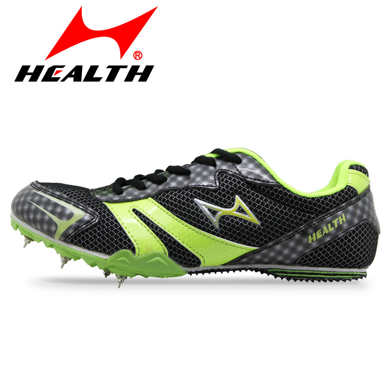 HEALTH student athletic runing sport shoes professional slip-resistant long sprint spikes female running nail for men spike(China (Mainland))