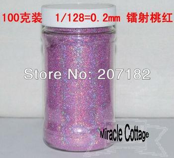 Free shpping! (6pcs/lot) best sell 1/24=1.0mm laser peach red polycrystalline powder,laser powder,flash powder,glitter powder