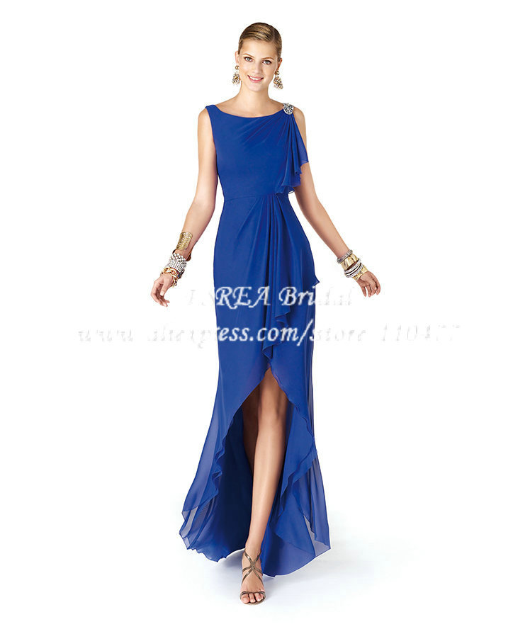 Low Back Wedding Guest Dresses : Dress short front long back prom royal blue mq wedding guest