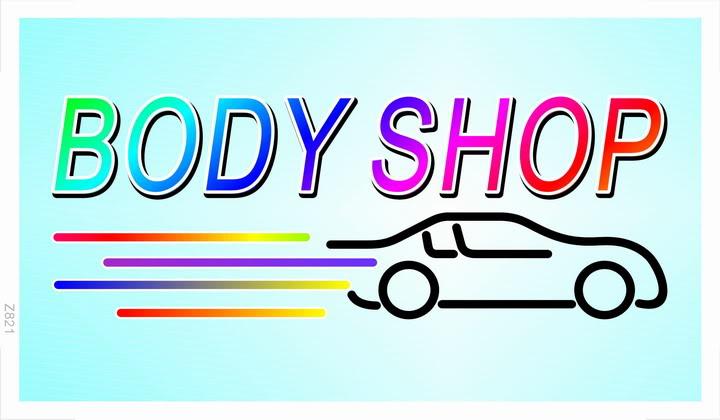z821 Body Shop Car Auto Bar Beer Banner Shop Sign(China (Mainland))