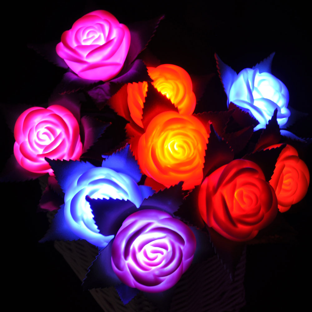 Online buy wholesale lighted flowers from china lighted for Light up flower lamp