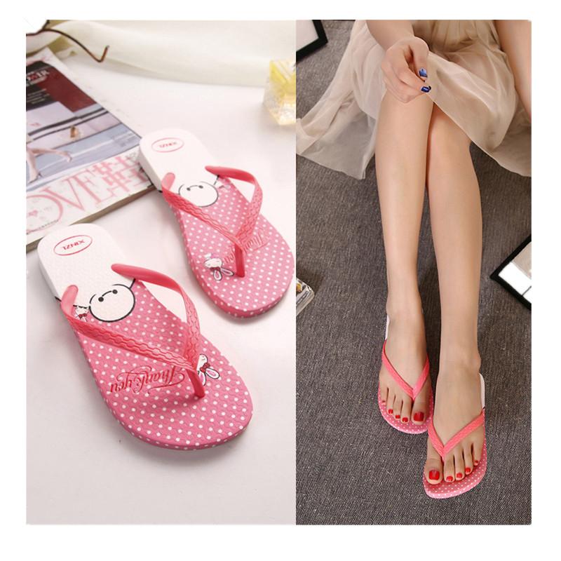 2016 NEW Arrival Summer Style Shoes Women Sandals  Slippers Slip-resistant plastic flip flops Sandalias Mujer Pink/Red/Bule