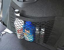 Strong Magic Tape Car Seat Back Storage Mesh Net Bag 40cm x 25cm Luggage Holder Pocket Sticker Trunk Organizer(China (Mainland))