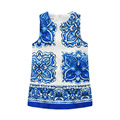 2016 kimocat fashion designer Chinese girl blue and white porcelain blue and white porcelain jacquard A
