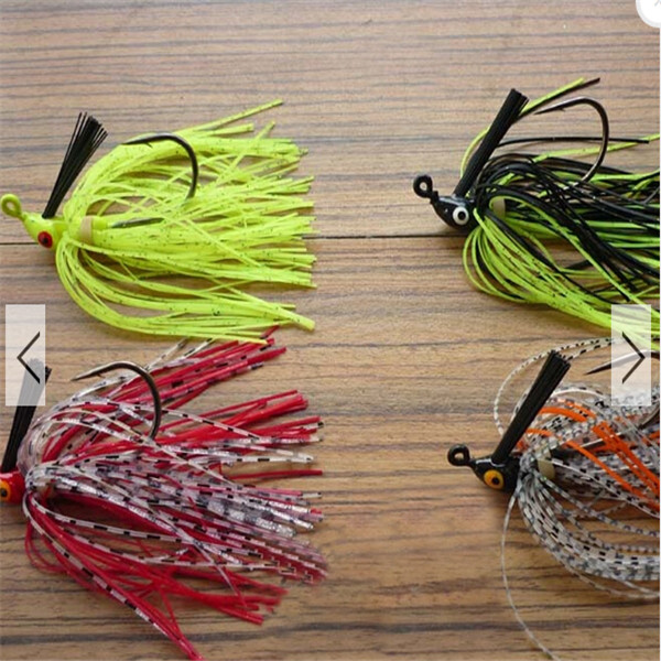 Hot selling Rubber Fishing Lure Swim Bass Fly Jig Rubber Tackle Lure Baits Fishing accessories With Hooks(China (Mainland))