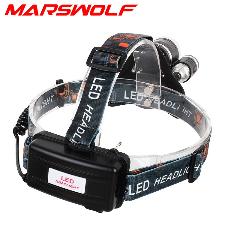 Miners Headlight/Headlamp 6000Lm 3* CREE XML T6  4-modes waterproof Aluminum
