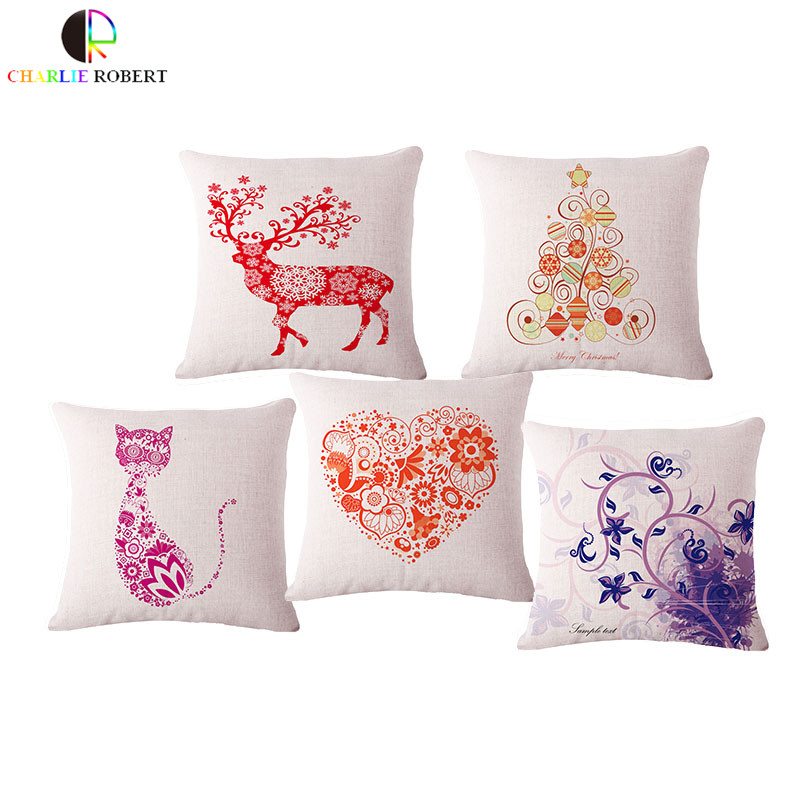 "European Style Home Decor Cushion With No core 17"" deear cat animal sofa seat back decorative throw pillow Nordic Cojin HH1072(China (Mainland))"