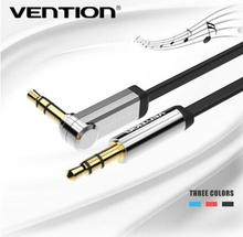 VENTION 3.5mm audio cable 90 degree right angle flat jack 3.5 mm aux cable for car iPhone MP3/4 headphone beats speaker aux cord(China (Mainland))