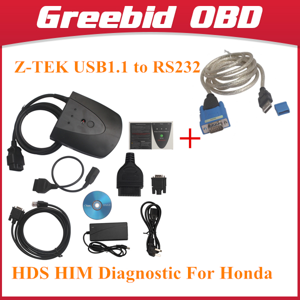 Buy New V3.015.20 For Honda HDS HIM Diagnostic Tool with Double Board HDS HIM with Z-TEK USB1.1 To RS232 Convert Connector(Hong Kong)
