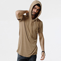 Summer Cool Design T Shirt 2017 Men s T shirt Hooded Tees Homme Fitness Streetwear Male