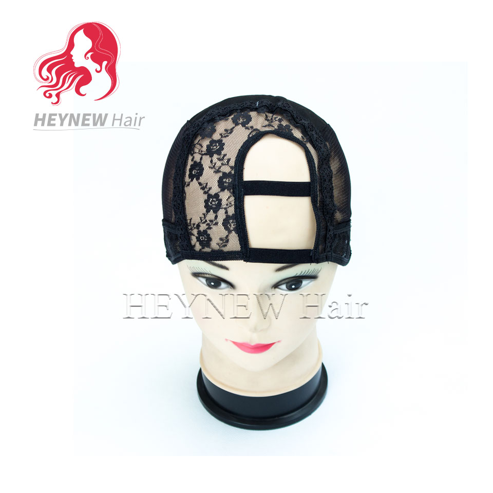 3pcs u part wig caps for making wigs Left/Right Parting full lace wig cap Stretch and mesh Black color small /medium/large(China (Mainland))