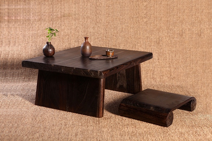 Buy japanese antique table rectangle 80 for 70s wooden couch