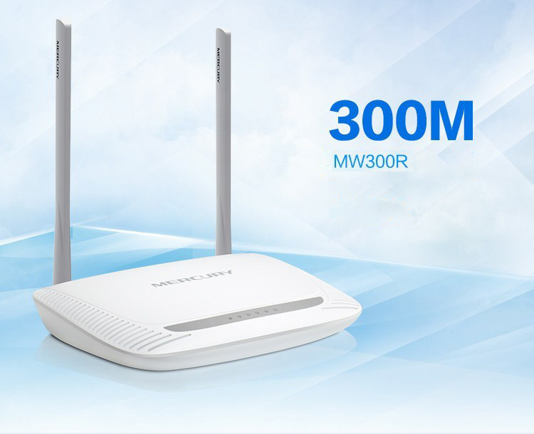 MERCURY MW300R High Power 300Mbps IEE802.11n/g/b Wireless wi-fi Router with 2 5-dbi Omni-Directional Antennas 4 LAN Ports15(China (Mainland))