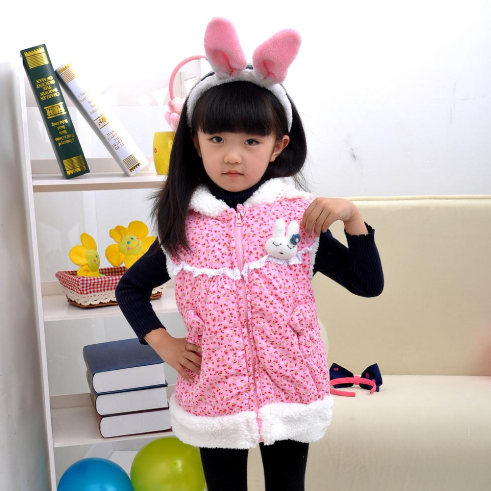 Retail 1size 1lot kids clothes girls thick winter coat