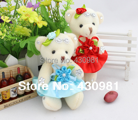 stuffed teddy bears toys bridal decoration bears valentines gift bears bouquet joint bears 12cm(China (Mainland))