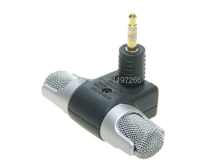 (50pcs/lot) for sony ECM-DS70p min stereo microphhone new electret condenser microphone for sony laptop mp3 small size(China (Mainland))
