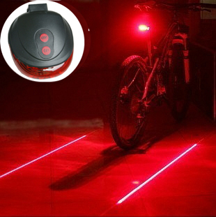 New Arrival 7 flash mode (5LED+2Laser) Bicycle Rear Lamp, waterproof Bike Laser Tail Light Warning Lamp Cycling Light Blue Red(China (Mainland))
