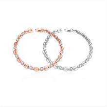 Buy Brand Charm Bracelets & Bangles Rose Gold Women Elegant Fashion Wedding Party Jewelry NEW Sl 229 for $2.84 in AliExpress store