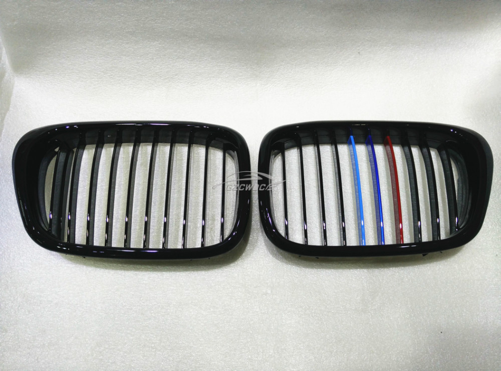 High-quality kidney shape 2001-2004 3-color ABS plastic E39 grill grille for BMW 5 series<br><br>Aliexpress