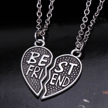 New collier choker necklace heart pendant pieces broken two best friend friendship forever women necklace jewelry