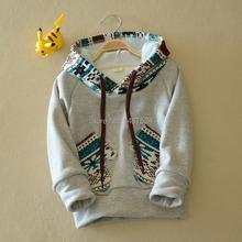 2014 New winter children puls velvet thickening coat /children warm casual sweater / kids leisure clothes(China (Mainland))