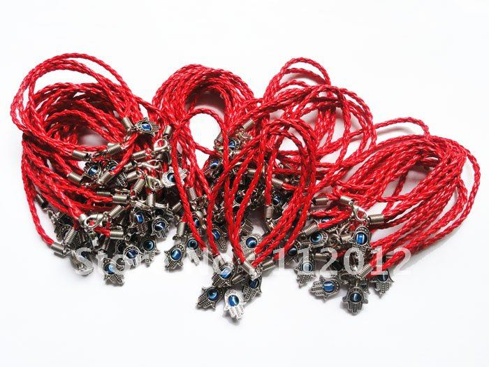 Free Shipping. Lot of 60, Hot Fashion Evil Eye HAMSA Red String Kabbalah Bracelets Lucky Charm Jewelry.Wholesale Only~(China (Mainland))