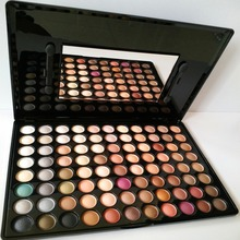 Hot Selling Pro 88 Warm Palette Professional Earth Color Eye Shadow Set Naked Palette+Brushes Mirror(China (Mainland))