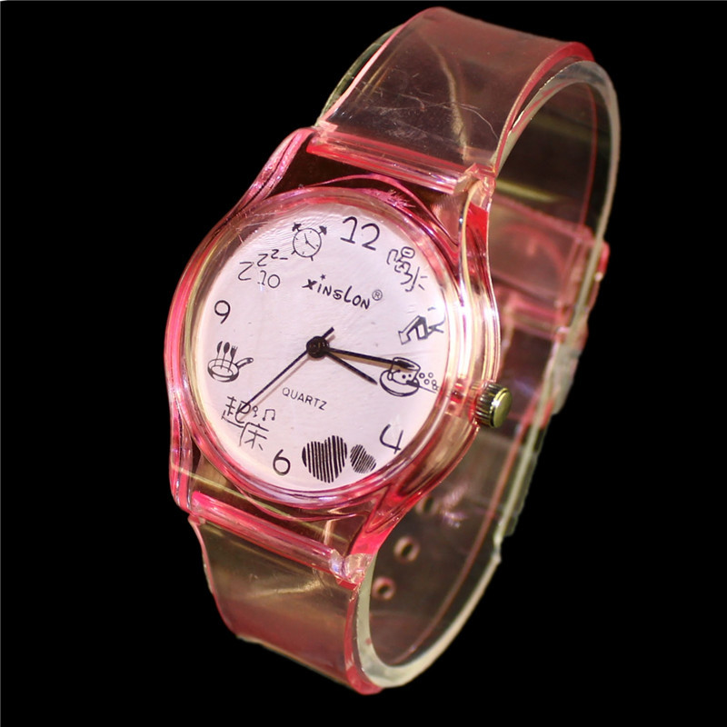2015 New XINSLON Casual Watches Transparent Band Image Chinese Characters Style Clock Hours Women s Watches
