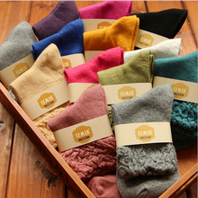10pairs =1 lot New arrival autumn and winter candy color top quality wool women socks Free Shipping MF28544871