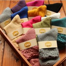 10pairs 1 lot New Brand Wool Colorful Women Socks Cute Kawaii Casual Tube Novelty Winter Art