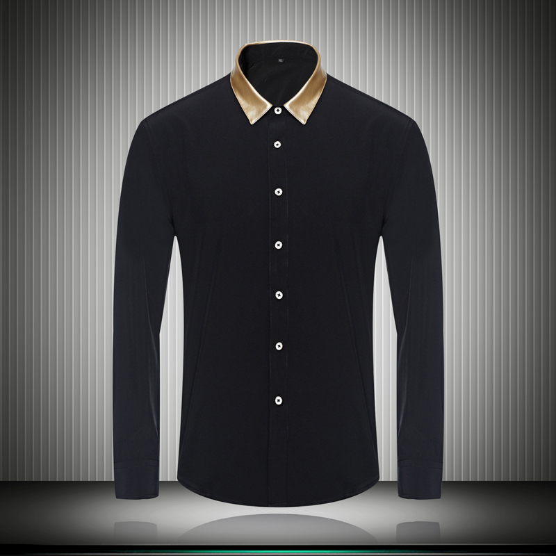 Black And Gold Mens Shirt
