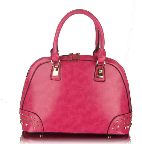 Genuine Leather Rivet Handbag Large Capacity Women Messenger Bags Ladies Solid Top Quality Womens Shoulder Bag Totes<br><br>Aliexpress