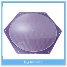 Kossel Delta Rostock  Hotbed  PCB 12V 120w 170/200mm Purple Reprap Seemecnc MK2A /2B +200*3mm Round Plate Borosilicate Glass