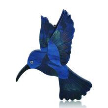 FUNMOR Resina Abalone Borsette Blu Picchio Spilla Acrilico Handmade Vivid Spille Animali Per Le Donne I Bambini Grande Hijab Spilli Gioielli(China)